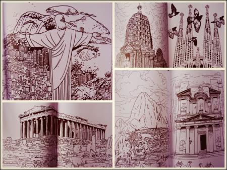 lieux mythiques à colorier