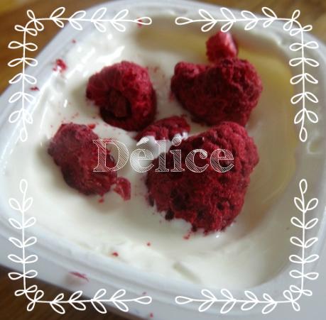 yaourt aux fruits lyophilisés