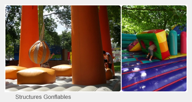 family park structures gonflables