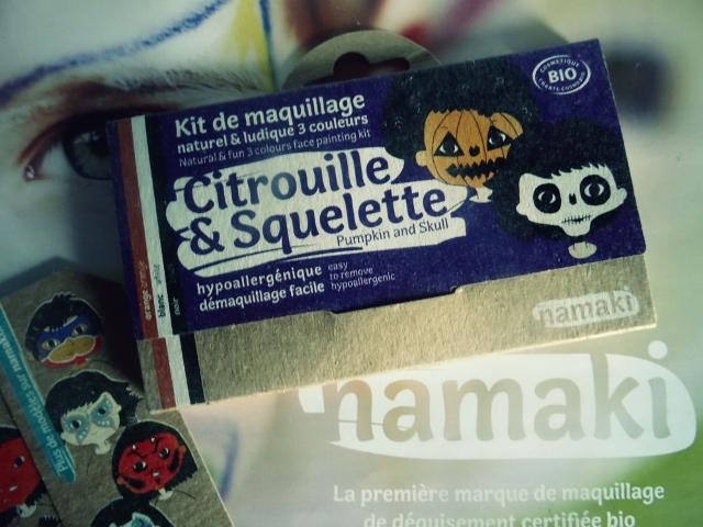 namaki maquillage bio enfant pour halloween