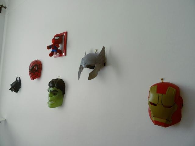 déco masques super héros