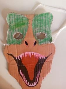 masque carton dinosaure souris maman