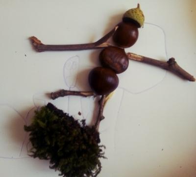 idée créative enfant tableau automne