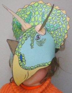 triceratops masque à faire