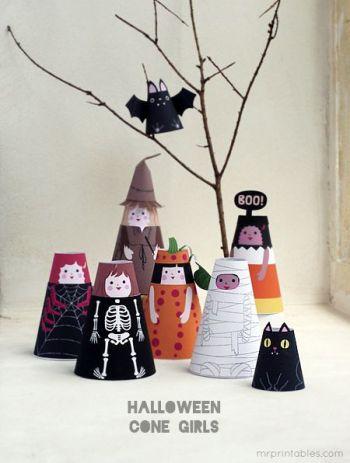 figurines papier
