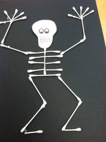 activité squelette coton tiges