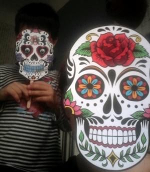 masque halloween squelette