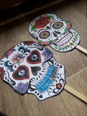 masque squelette mexicain