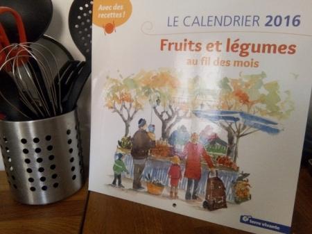 calendrier 2016 terre vivante fruit légumes saison