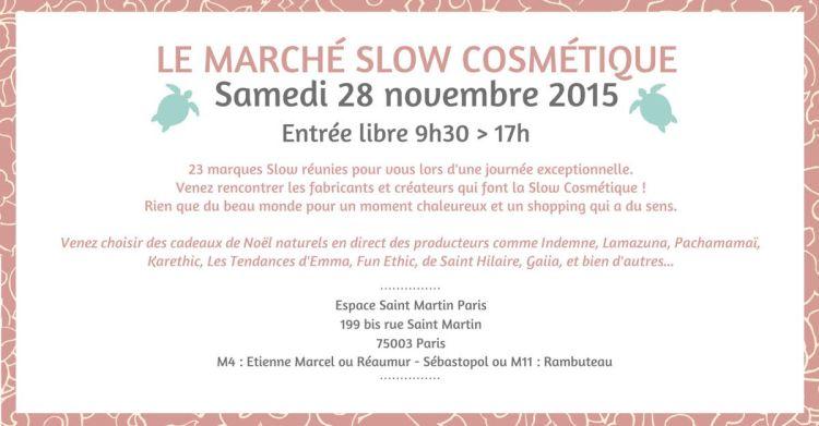marche slow cosmetique