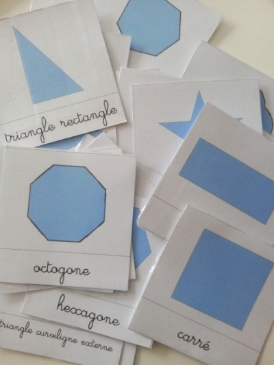 montessori carte formes geometriques souris maman