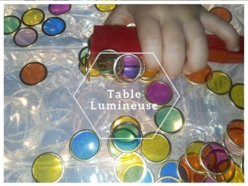 activite table lumineuse enfant