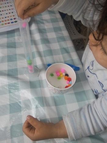 materiel-activite-pompon- montessori